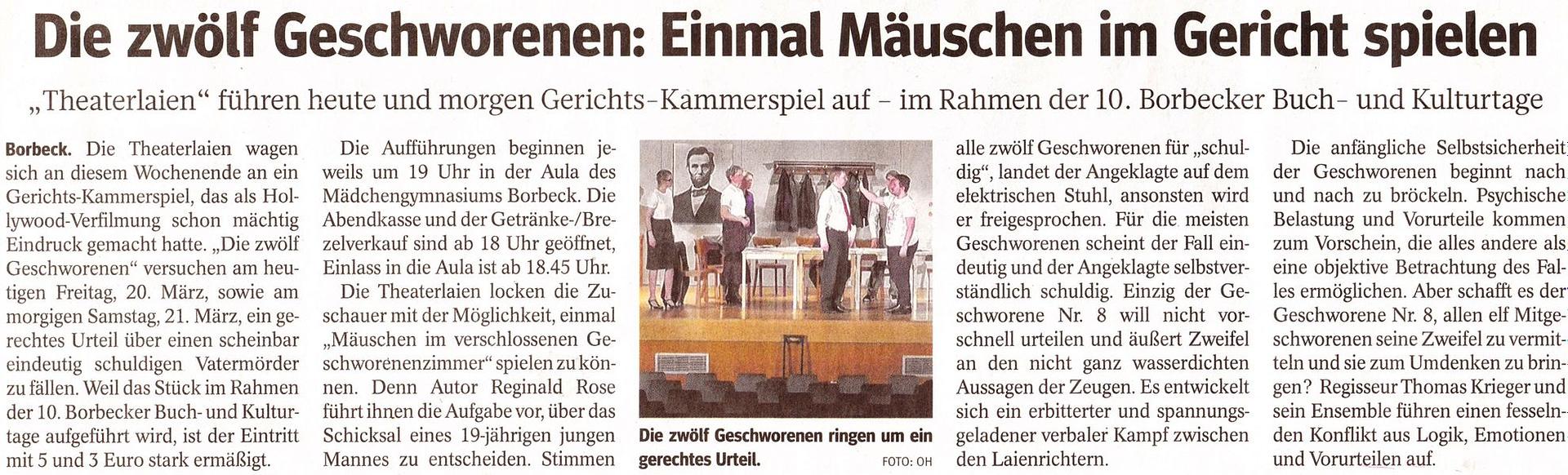 Charakterisierung die 12 geschworenen Deutsch